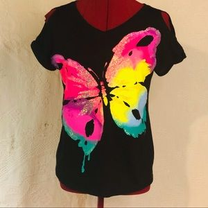 Justice Let Your Love Shine Butterfly TShirt G-14